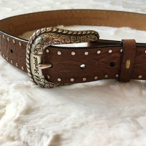 Ariat Embossed Leather Belt w/ Silver Studs